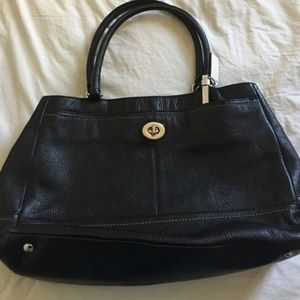USED Coach Black Leather Purse